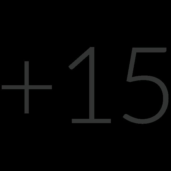 Plus 15 Icon Final Black
