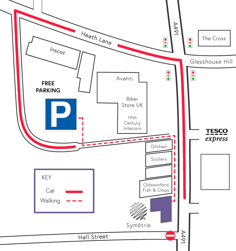 Symetrie Car Park Map