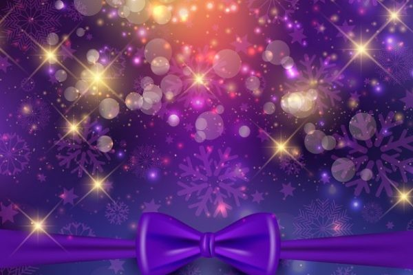 Christmas Background With Purple Ribbon 1048 4399